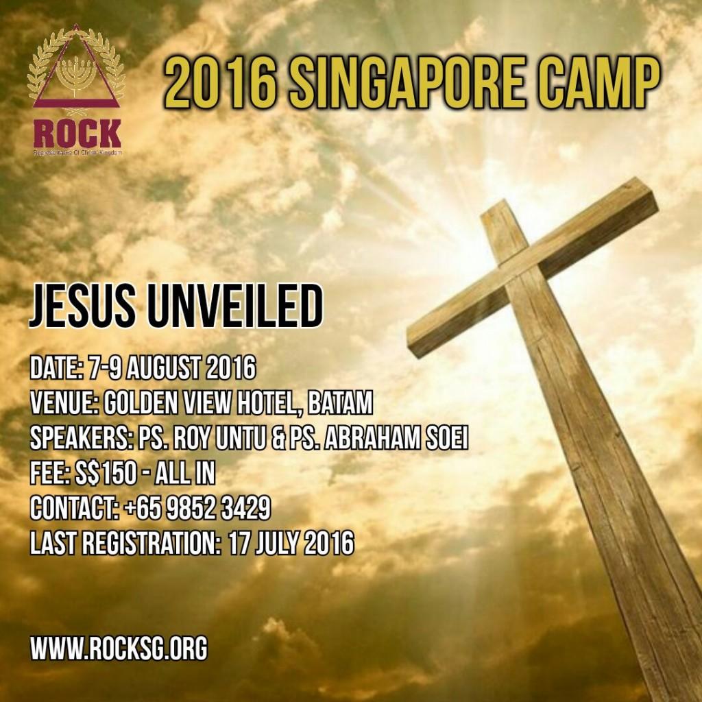 2016 ROCK Singapore Camp Jesus Unveiled